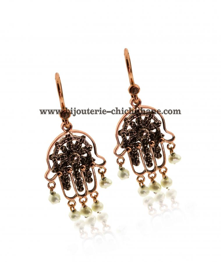 Bijoux Boucles D'oreilles Diamants Rose ''Chichkhane'' 43864
