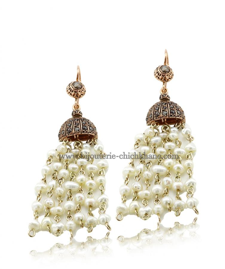 Bijoux Boucles D'oreilles Diamants Rose ''Chichkhane'' 44214