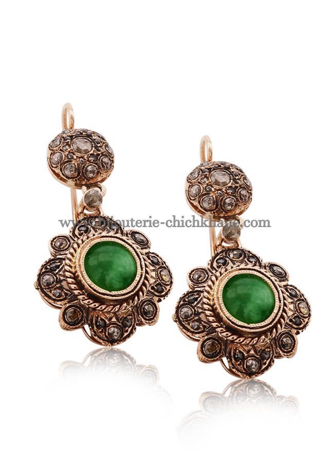 Bijoux Boucles D'oreilles Diamants Rose ''Chichkhane'' 44218