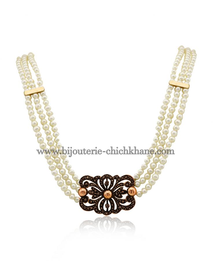 Bijoux en ligne Collier Diamants Rose ''Chichkhane'' 44371