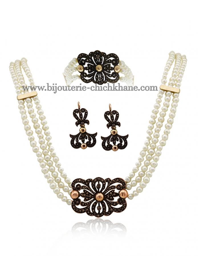 Bijoux Collier Diamants Rose ''Chichkhane'' 44371