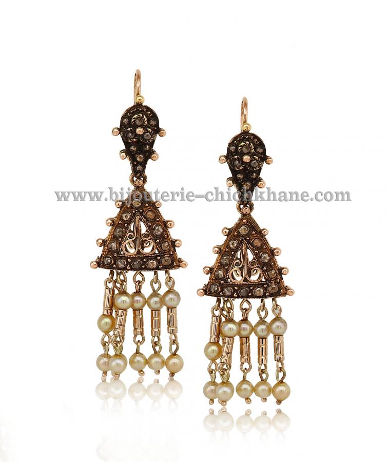 Bijoux Boucles D'oreilles Diamants Rose ''Chichkhane'' 44382