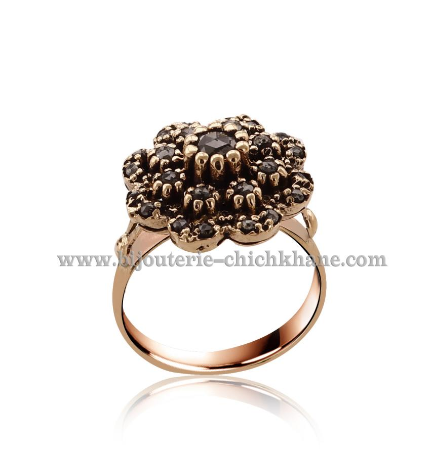 Bijoux Bague Diamants Rose ''Chichkhane'' 44489