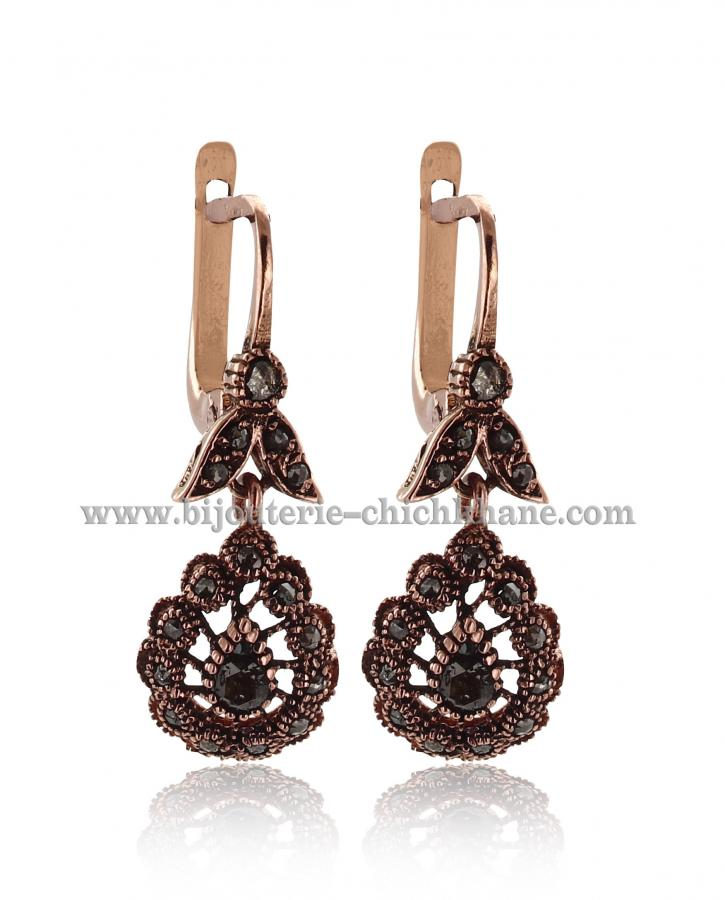 Bijoux Boucles D'oreilles Diamants Rose ''Chichkhane'' 44500