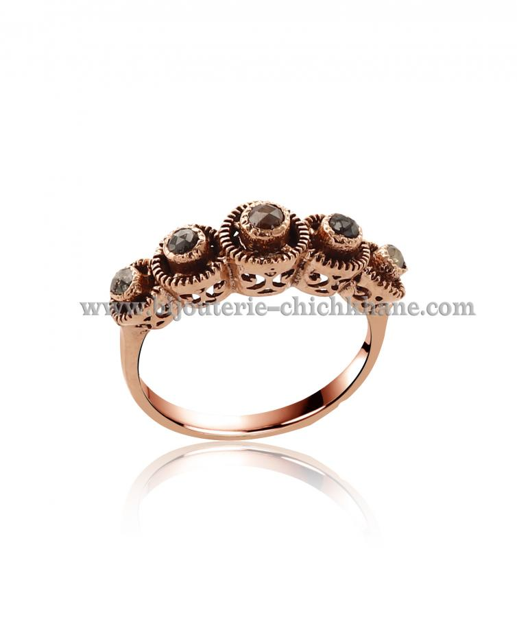 Bijoux Bague Diamants Rose ''Chichkhane'' 44510