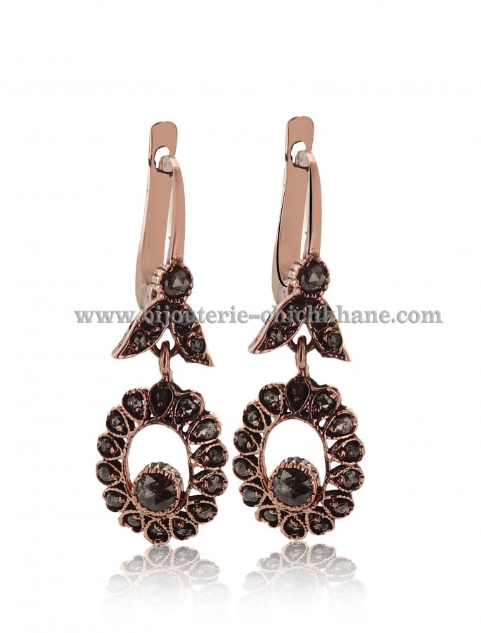 Bijoux Boucles D'oreilles Diamants Rose ''Chichkhane'' 44528