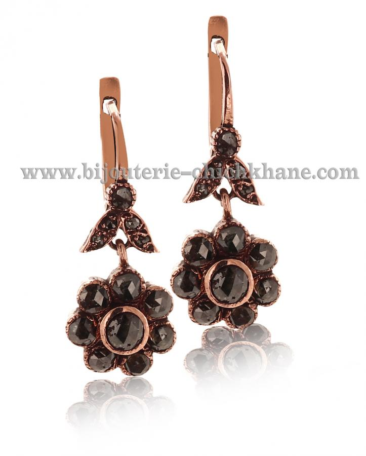 Bijoux Boucles D'oreilles Diamants Rose ''Chichkhane'' 44529