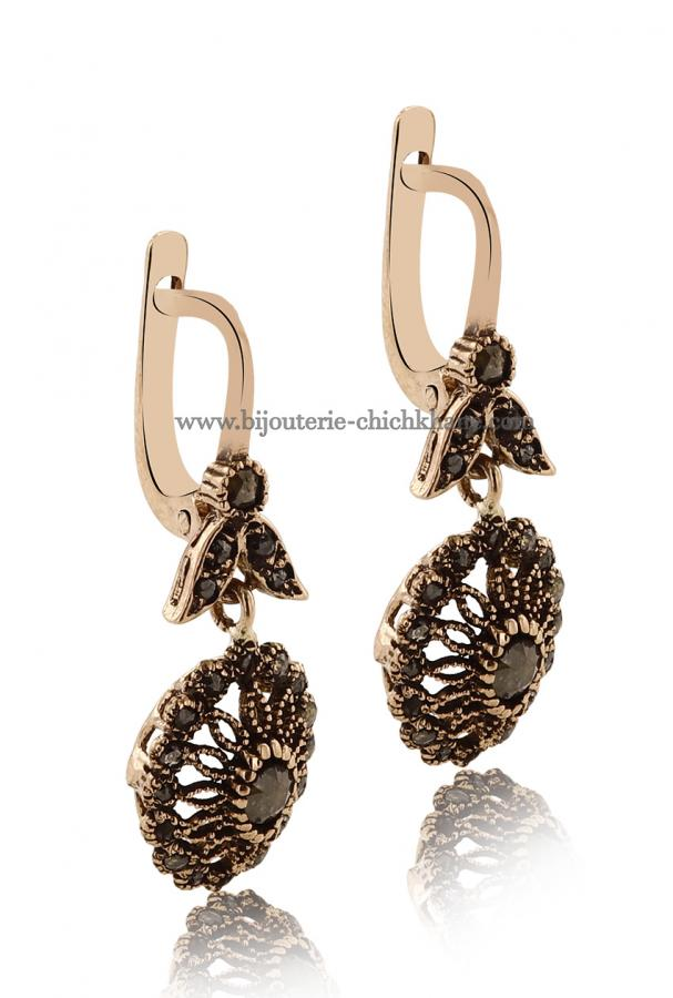 Bijoux Boucles D'oreilles Diamants Rose ''Chichkhane'' 45013