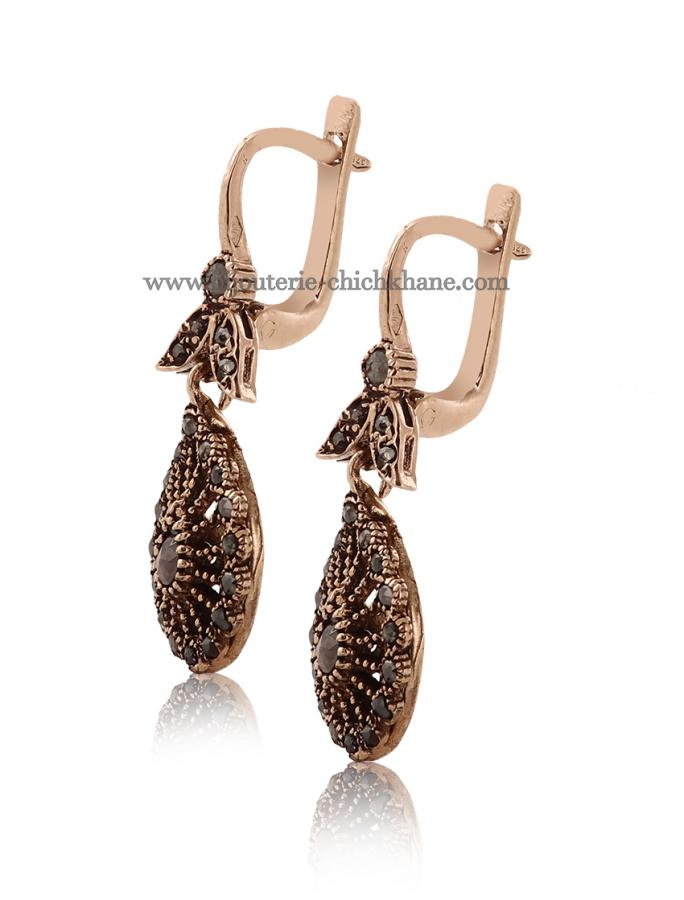 Bijoux Boucles D'oreilles Diamants Rose ''Chichkhane'' 45015