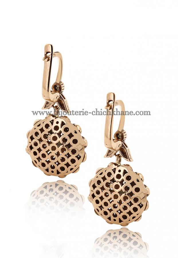 Bijoux Boucles D'oreilles Diamants Rose ''Chichkhane'' 45028