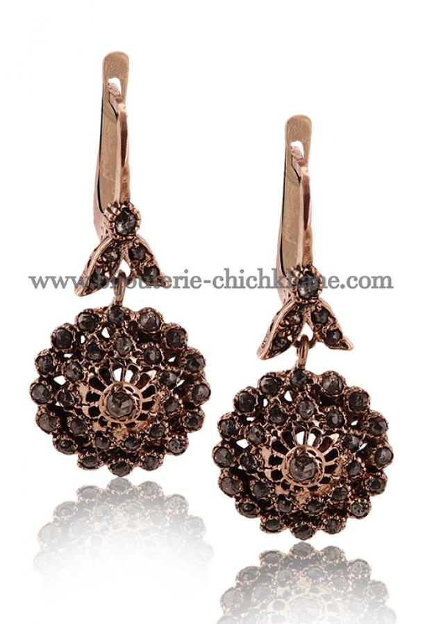 Bijoux Boucles D'oreilles Diamants Rose ''Chichkhane'' 45030