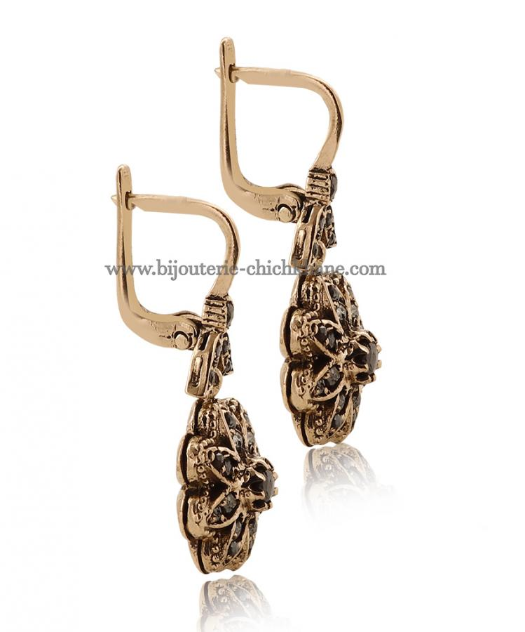 Bijoux Boucles D'oreilles Diamants Rose ''Chichkhane'' 45032