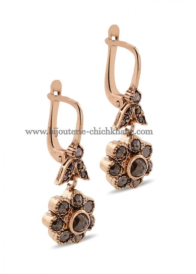 Bijoux Boucles D'oreilles Diamants Rose ''Chichkhane'' 45033