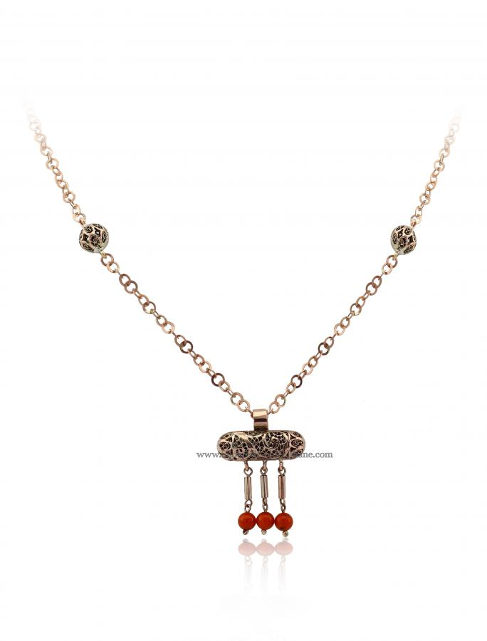 Bijoux en ligne Collier Diamants Rose ''Chichkhane'' 47291