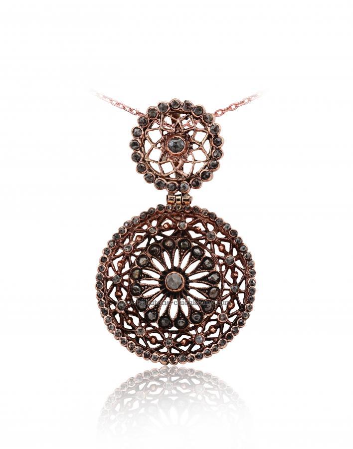d05089d3eaf Bijoux en ligne Pendentif Diamants Rose   Chichkhane   48379 ...