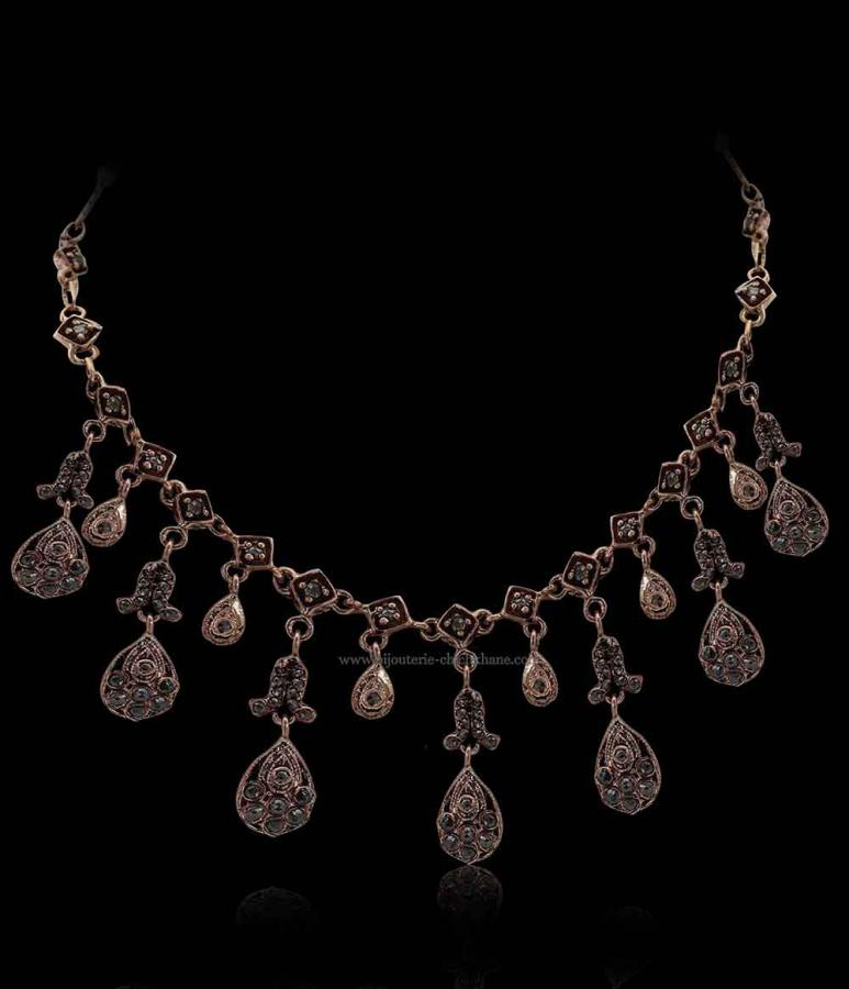 Bijoux en ligne Collier Diamants Rose ''Chichkhane'' 51397