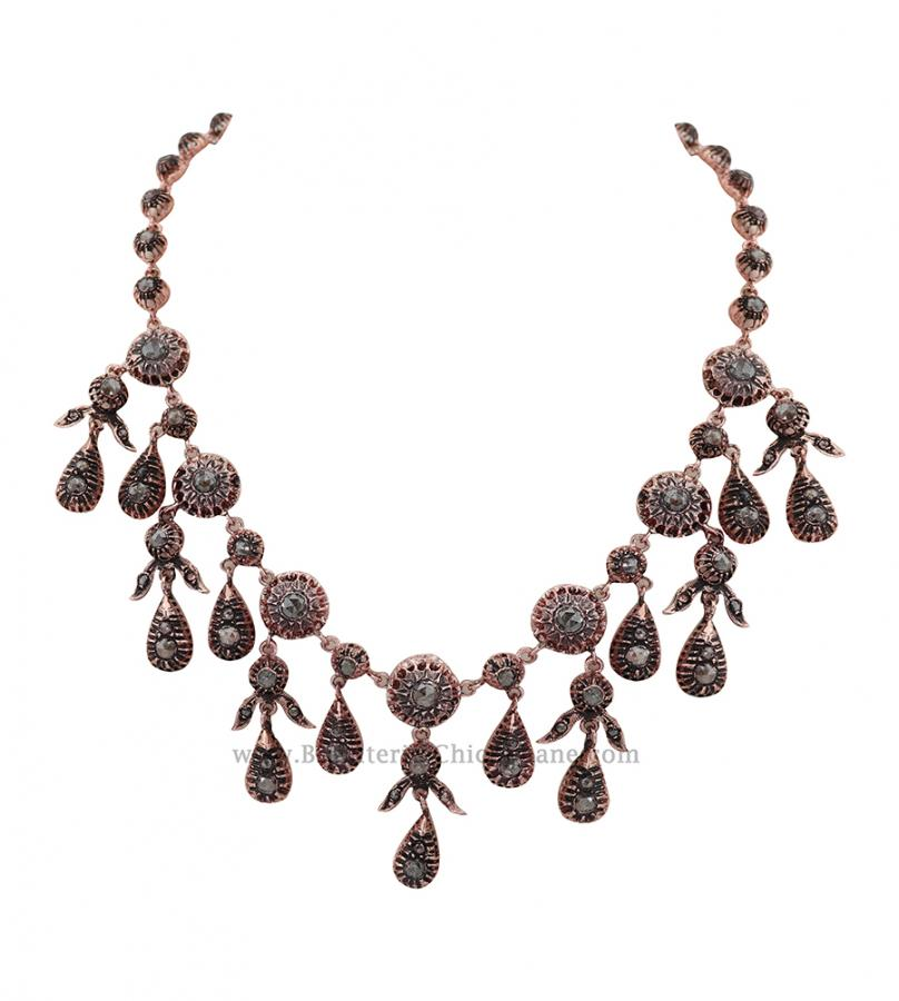 Bijoux en ligne Collier Diamants Rose ''Chichkhane'' 54306