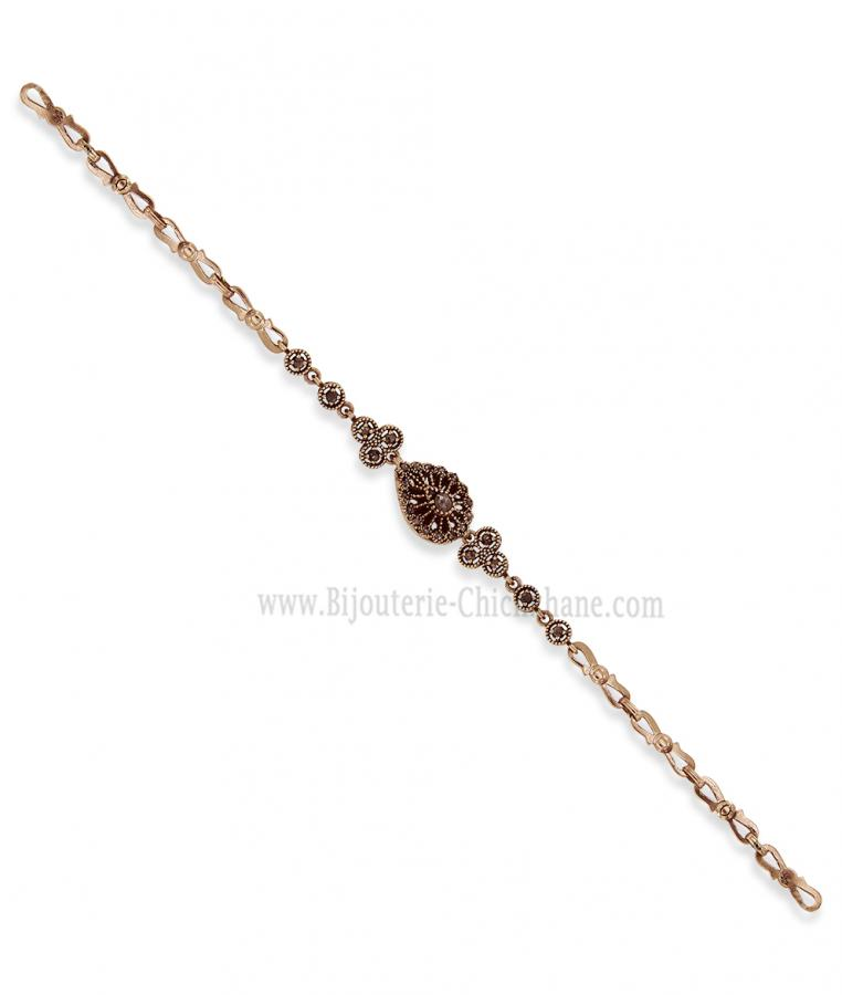 Bijoux en ligne Gourmette Diamants Rose ''Chichkhane'' 58190