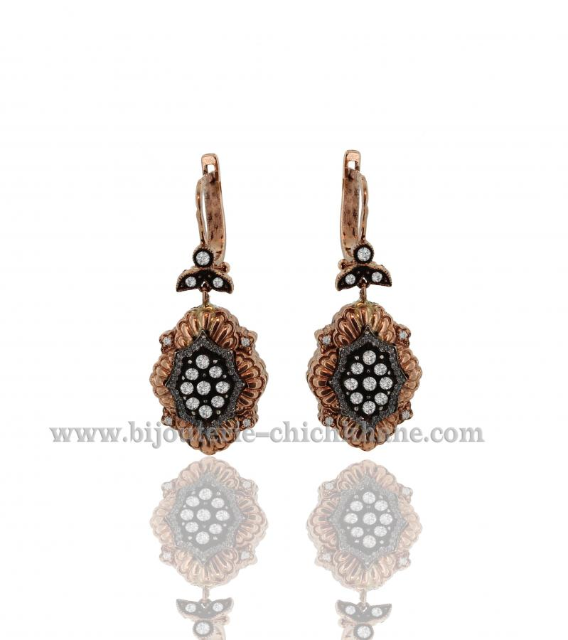 Bijoux Boucles D'oreilles Diamants Blanc ''Chichkhane'' 36121