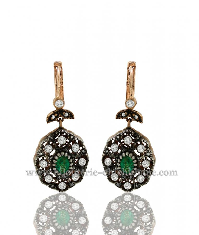 Bijoux Boucles D'oreilles Diamants Blanc ''Chichkhane'' 38030