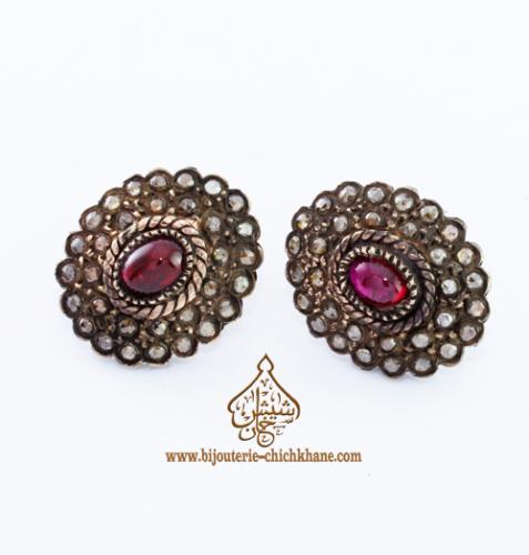 Bijoux Boucles D'oreilles Diamants Rose ''Chichkhane'' 30414