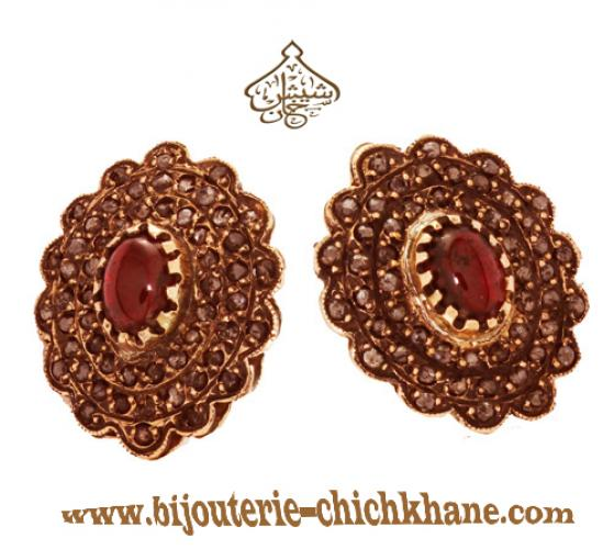 Bijoux Boucles D'oreilles Diamants Rose ''Chichkhane'' 31501