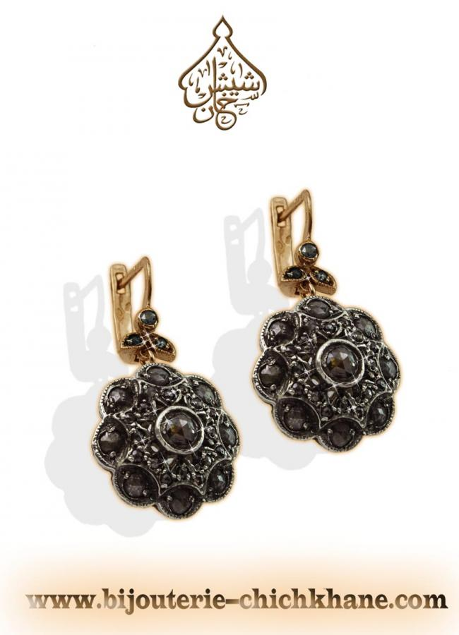 Bijoux Boucles D'oreilles Diamants Rose ''Chichkhane'' 35406