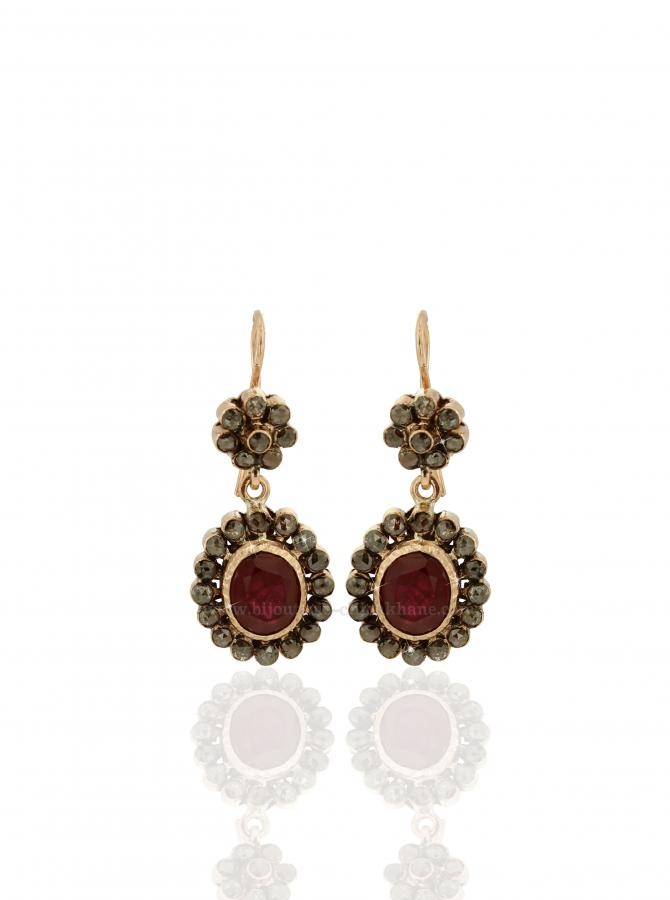 Bijoux Boucles D'oreilles Diamants Rose ''Chichkhane'' 38847