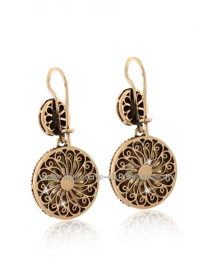 Bijoux Boucles D'oreilles Diamants Rose ''Chichkhane'' 42899