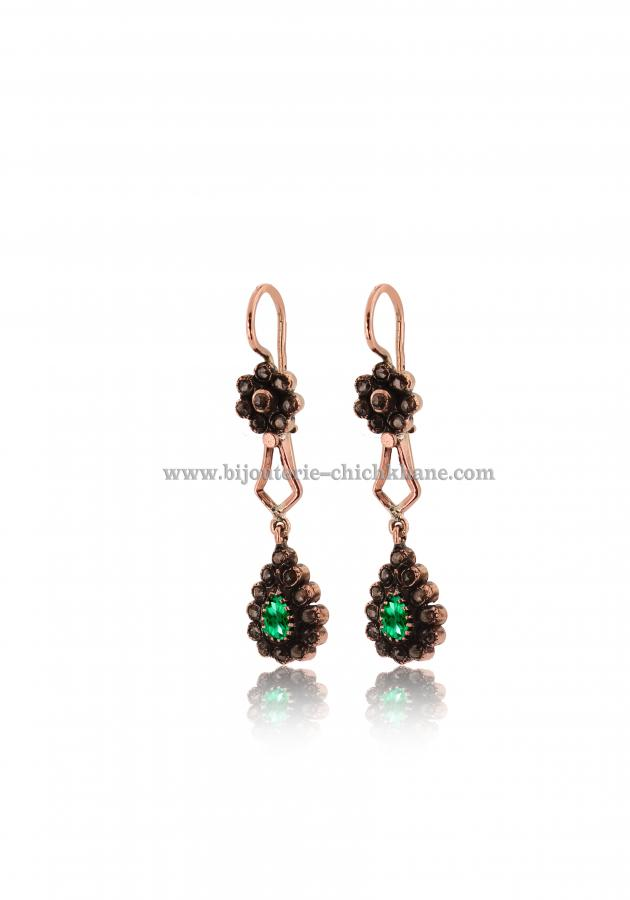Bijoux Boucles D'oreilles Diamants Rose ''Chichkhane'' 43210