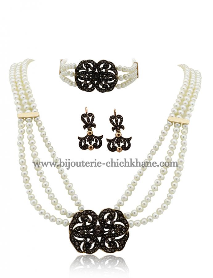 Bijoux en ligne Collier Diamants Rose ''Chichkhane'' 44373