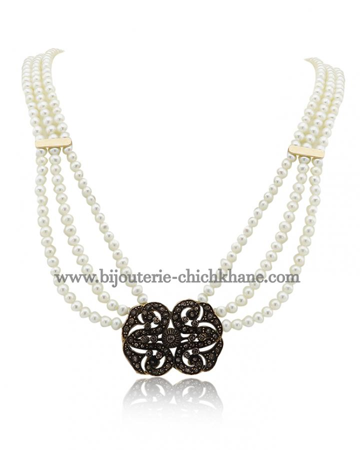 Bijoux Collier Diamants Rose ''Chichkhane'' 44373
