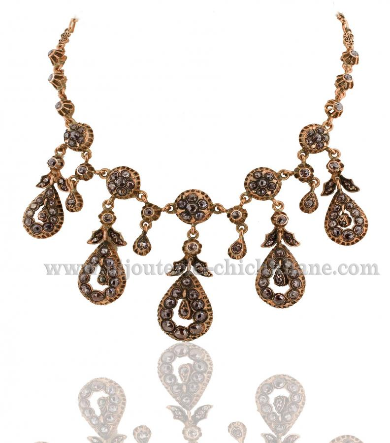 Bijoux en ligne Collier Diamants Rose ''Chichkhane'' 31406