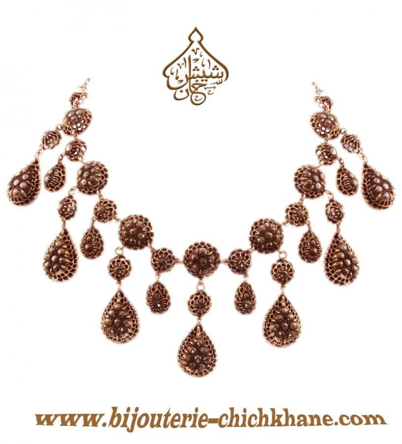 Bijoux Collier Diamants Rose ''Chichkhane'' 35215