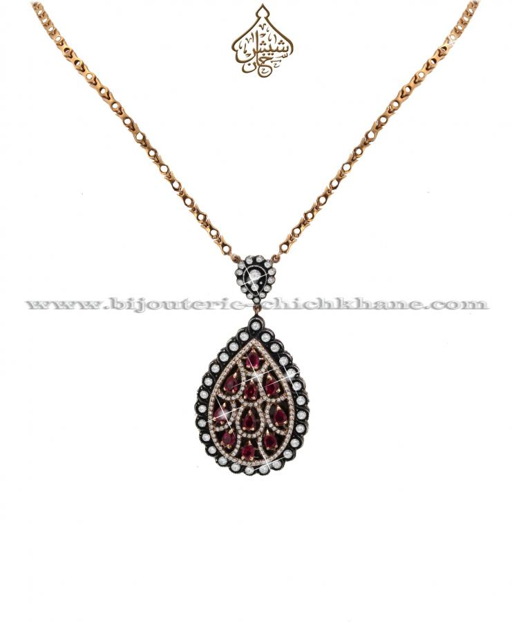 Bijoux Collier Diamants Rose ''Chichkhane'' 38027