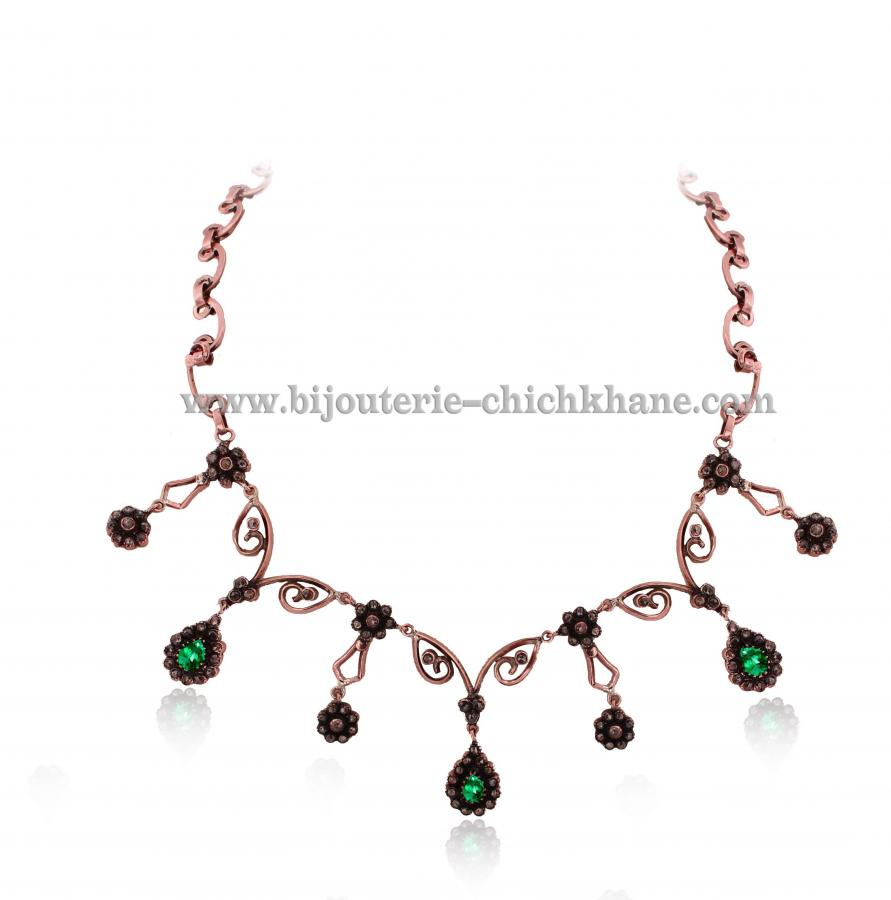 Bijoux Collier Diamants Rose ''Chichkhane'' 43209