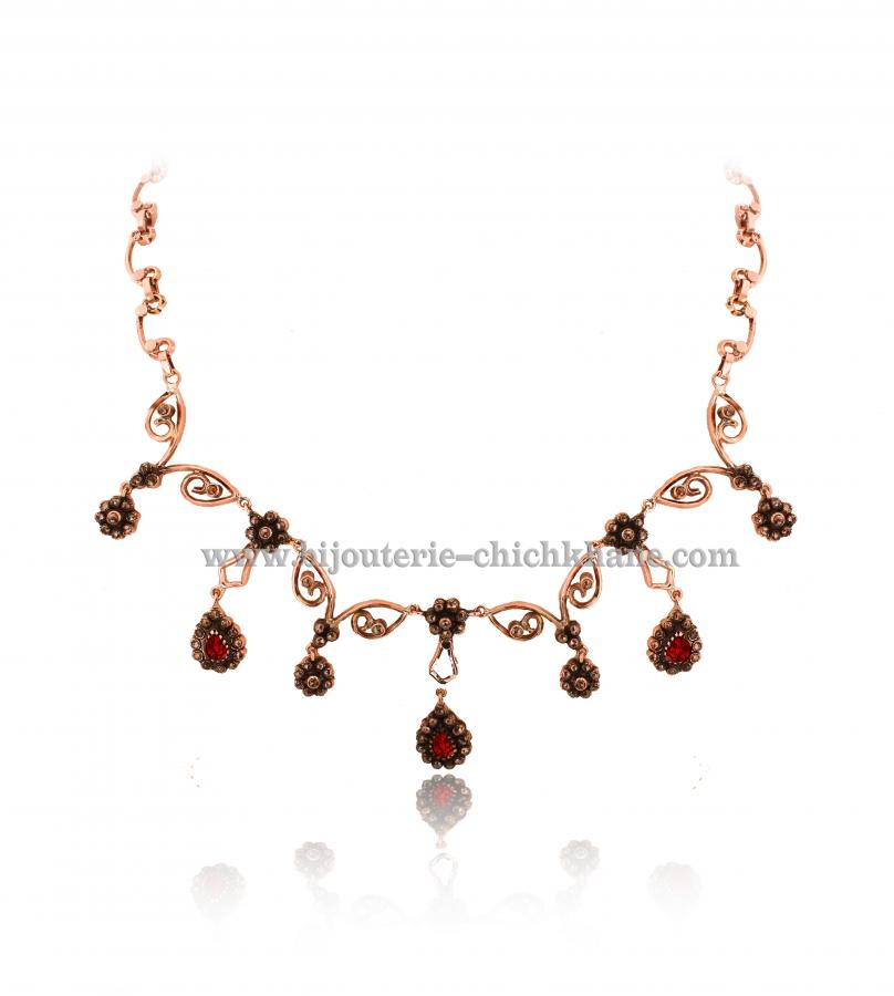 Bijoux Collier Diamants Rose ''Chichkhane'' 43211