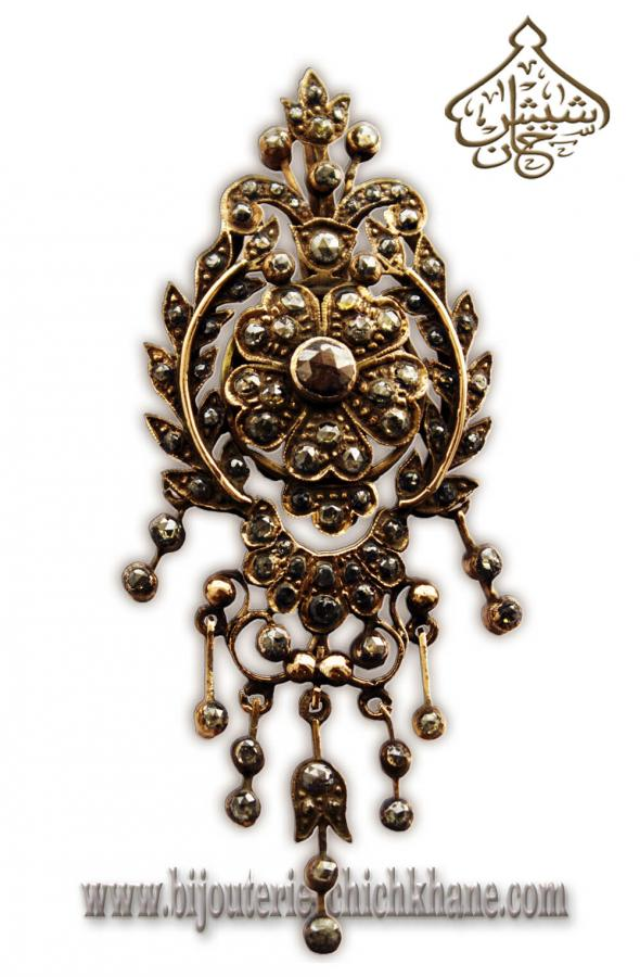Bijoux Pendentif Diamants Rose \u0027\u0027Chichkhane\u0027\u0027 35709