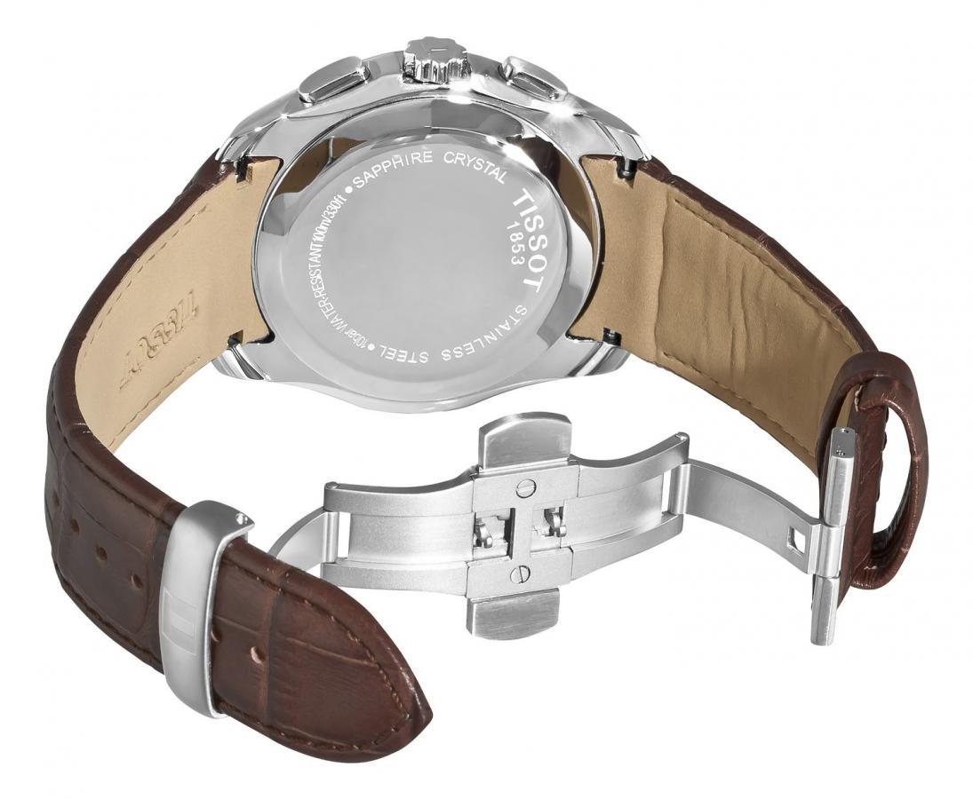 montre tissot homme bracelet cuir marron